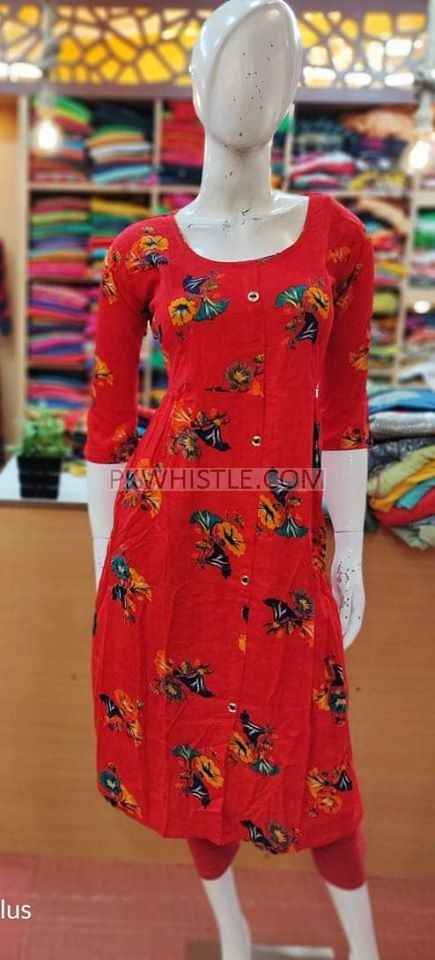 Feeding Kurtis , Flare Tops Two side zip Rayon material