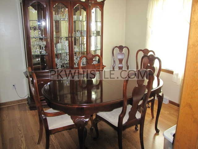 Solid Cherry Dining Set With Chest Of Drawers