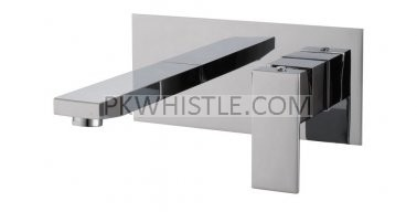 Chrome Bathtub/Basin Wall Mixer With Spout