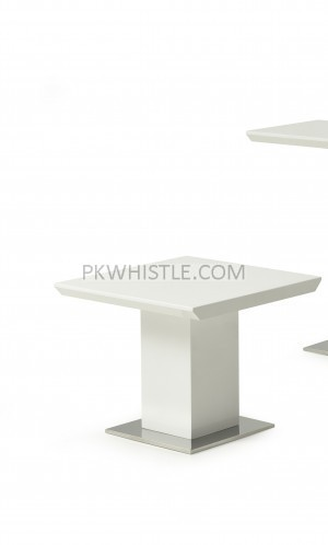 Side/Lamp Square Table Erica White High Gloss