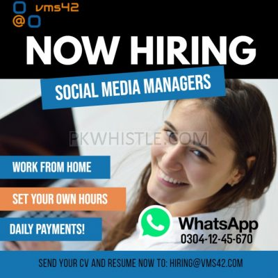 Online Social Media Manager Jobs Available